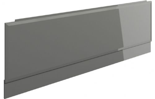 Bathrooms To Love Contemporary Two Piece Wood Effect Panels - Grey Gloss - Various Sizes